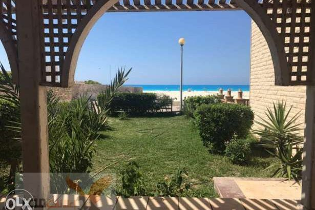 Sea view chalet at badr village north coast شاليه صف اول علي البحر