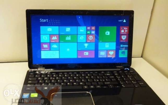 Laptop toshiba core i5 جيل رابع رام4+هارد750 vega nvidia للجيمز العالى